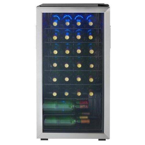 Danby Wine Coolers and Beverage Centers 3.3 Cu. Ft. Wine Cooler with 36 Bottle Capacity