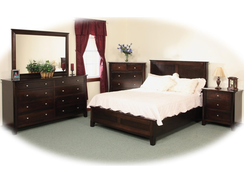 Shown with 8-Drawer Double Dresser, Mirror, Chest, and 3-Drawer Nightstand