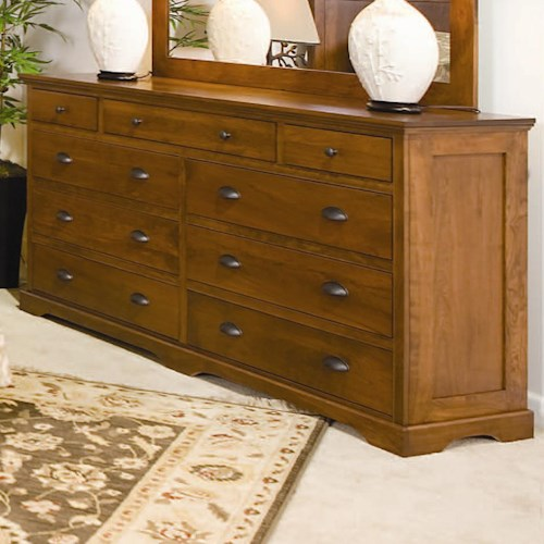 Daniel's Amish Elegance 9-Drawer Double Dresser
