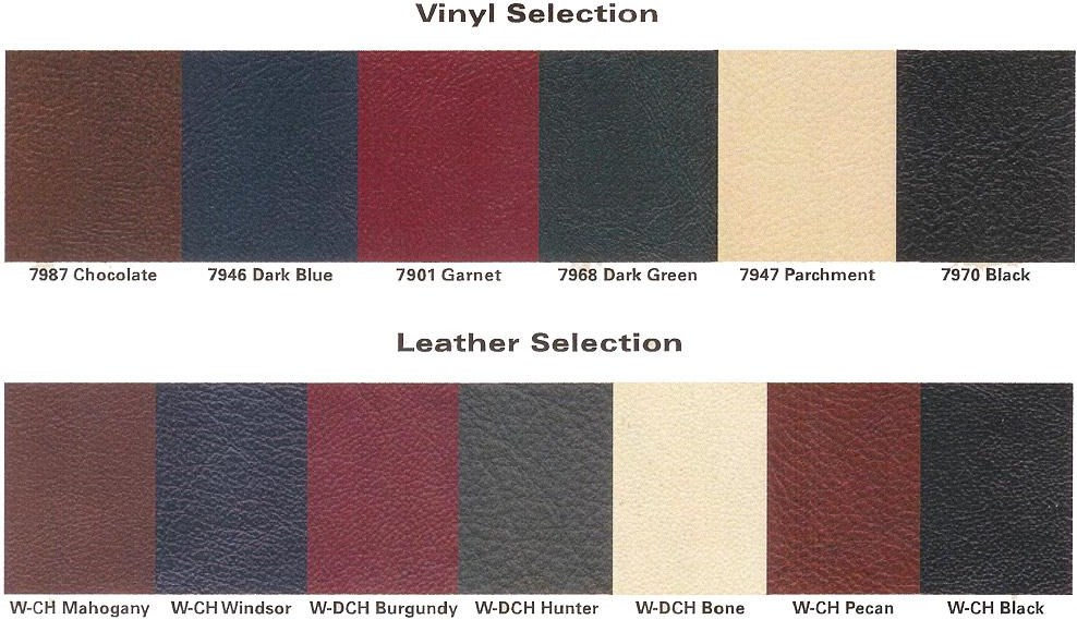 Vinyls and Leathers Available For Seat