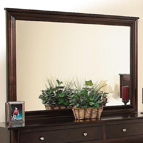 Daniel's Amish Amish Cosmopolitan Dresser Mirror w/ Brackets