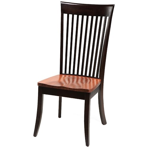 Daniel's Amish Carleton Side Chair with Wood Seat