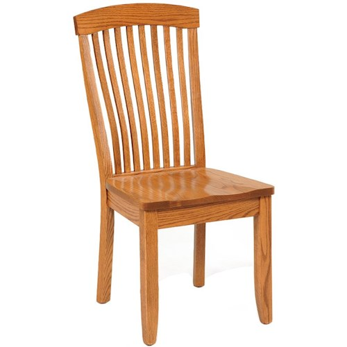 Daniel's Amish Shaker Side Chair with Wood Seat