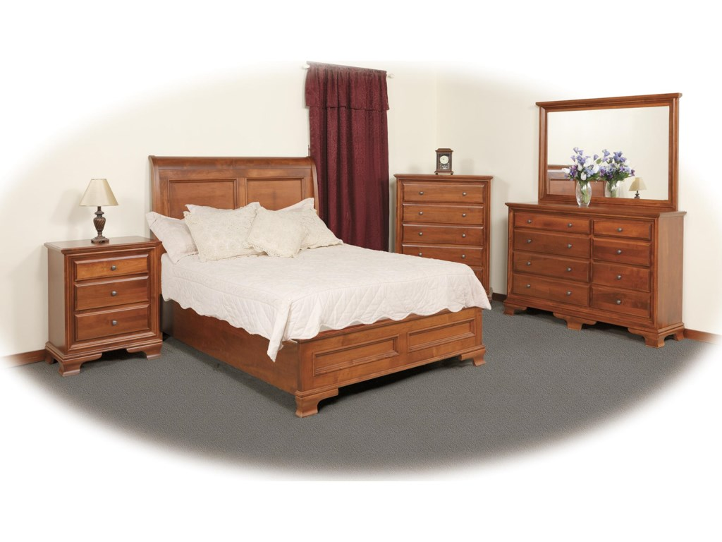 Shown with Nightstand, Chest, Triple Dresser, and Mirror
