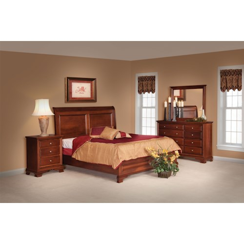 Daniel's Amish Amish Classic Queen Bedroom Group 1