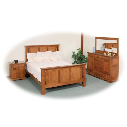 Daniel's Amish Elegance Queen Bedroom Group 1