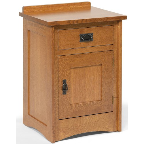 Daniel's Amish Amish Mission Mission-Style Solid Wood Nightstand with 1 Drawer & 1 Door