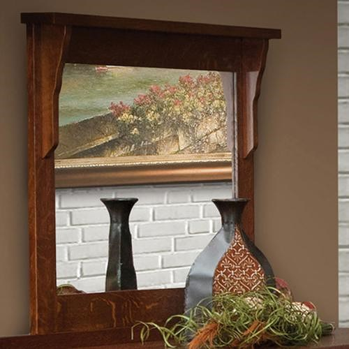 Daniel's Amish Amish Mission 42 X 36 Landscape Mirror with Solid Wood Frame