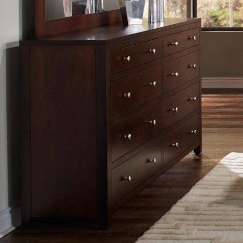 Daniel's Amish Modern 8 Drawer Dresser