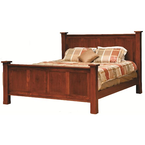 Daniel's Amish Treasure King Handcrafted Frame Bed