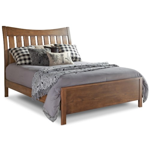Daniel's Amish Bedfort DA Queen Bed with Slatted Headboard