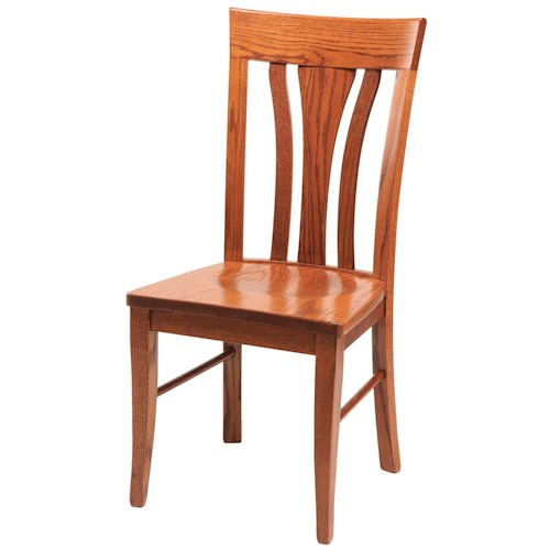 Daniel's Amish Chairs and Barstools Tulip Dining Side Chair