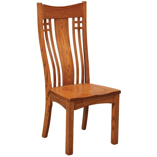 Daniel's Amish Chairs and Barstools Larson Mission Dining Side Chair