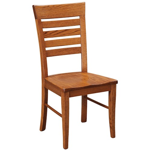 Daniel's Amish Chairs and Barstools Metro Ladder Dining Side Chair