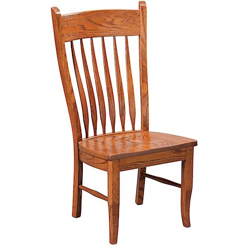 Daniel's Amish Chairs and Barstools Buckeye Dining Side Chair