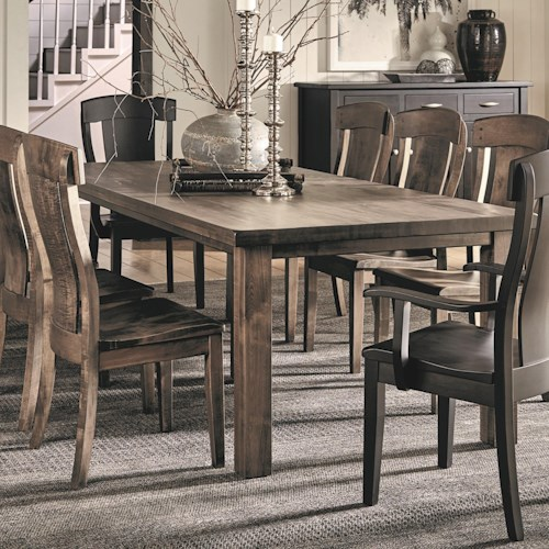 Daniel s amish eastchester solid wood dining table