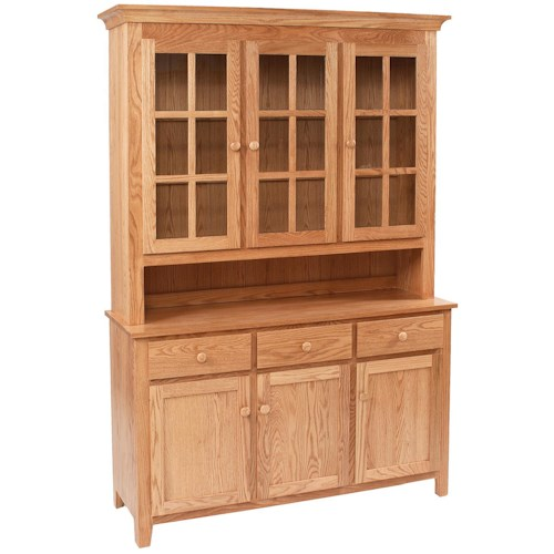 Daniel's Amish Hutch and Buffets Shaker Buffet w/ Hutch
