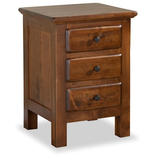 Daniel's Amish Lewiston 3-Drawer Nightstand
