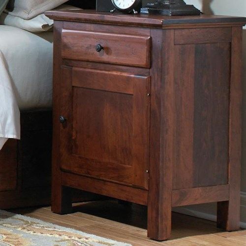 Daniel's Amish Lewiston Night Stand with Drawer and Door