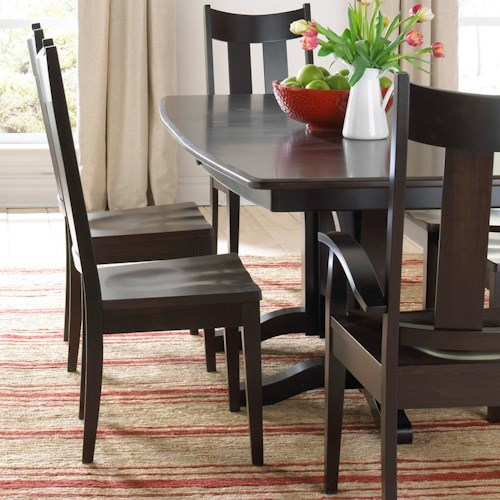 Daniel's Amish Millsdale Side Chair with Slat Back