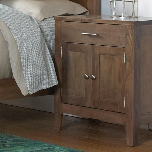 Daniel's Amish Nouveau Nightstand with 1 Drawer, 2 Doors