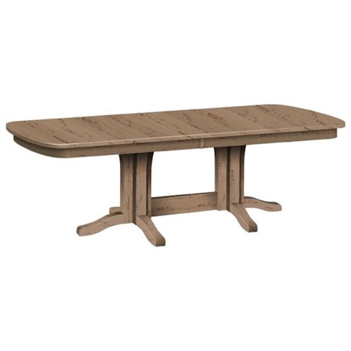 Daniel's Amish Tables Customizable Solid Wood Millsdale Rectangular Dining Table with Trestle Base
