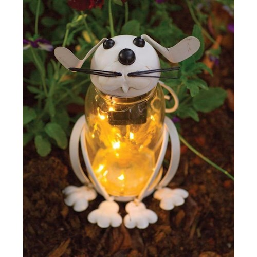 Rotmans Choice Accessories Glass Solar LED Bunny