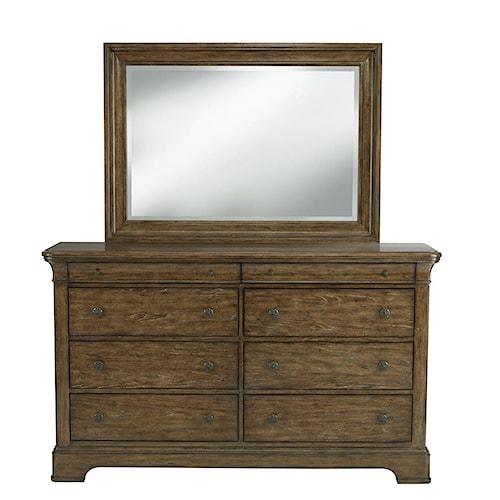 Belfort Select Virginia Mill 8 Drawer Dresser & Rectangular Mirror