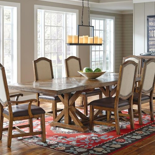Belfort Select Virginia Mill Saw Horse Dining Table