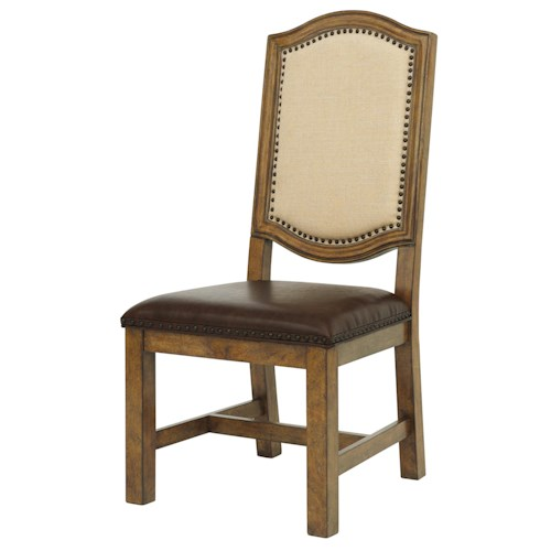 Belfort Select Virginia Mill Wood Side Chair with Upholstered Back