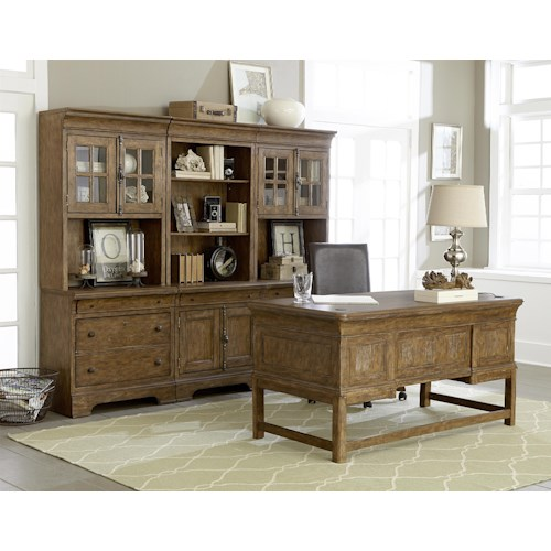 Belfort Select Virginia Mill Desk, Bookcase, and Chair