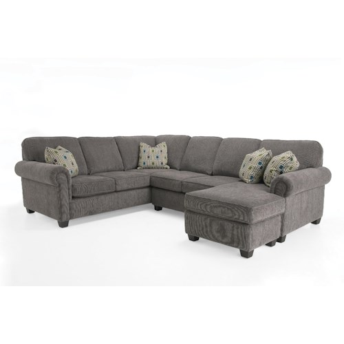 Decor-Rest 2006 Sectional Transitional Sectional Sofa Group with Chaise