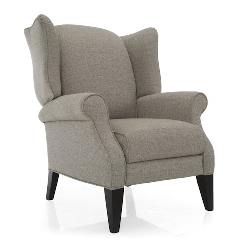 Decor-Rest 2220 Traditional High Leg Recliner Wing Chair