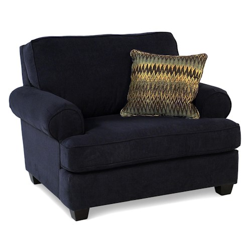 Decor-Rest Addison Upholstered Chair and a 1/2 w/ Accent Pillow
