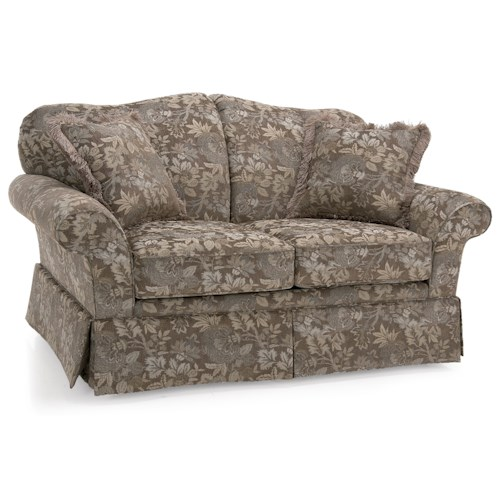 Decor-Rest 2398 Traditional Loveseat with Skirted Base