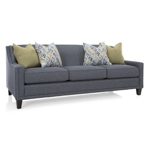 Decor-Rest 2400Series Transitional Attached Back Sofa with Track Arms