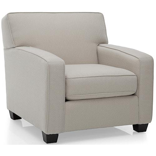 Decor-Rest 2401 Love Seats w/ Accent Pillows