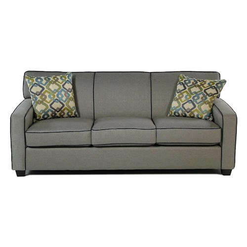 Decor-Rest Gatsby Stationary Sofa w/ Accent Pillows