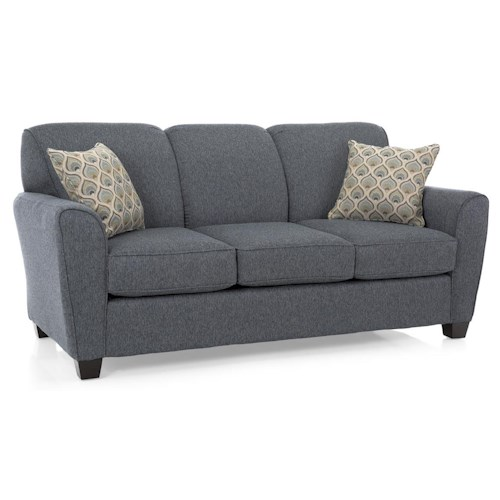 Decor-Rest 2404 Transitional Sofa with Flared Arms
