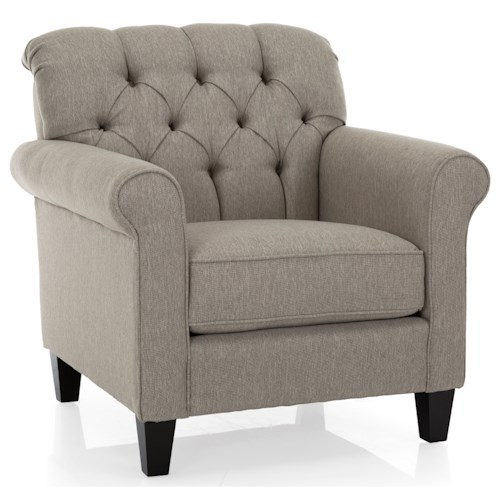 Decor-Rest 2478 Traditional Chair with Tufted Back