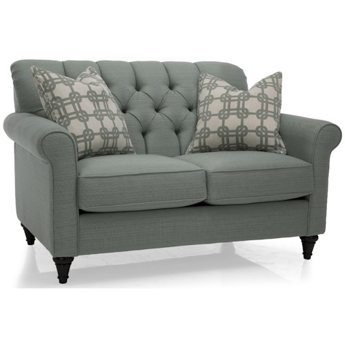 Decor-Rest 2478 Love Seat w/ Tufted Back
