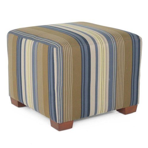 Decor-Rest 2515 Ottoman with Exposed Wood Feet