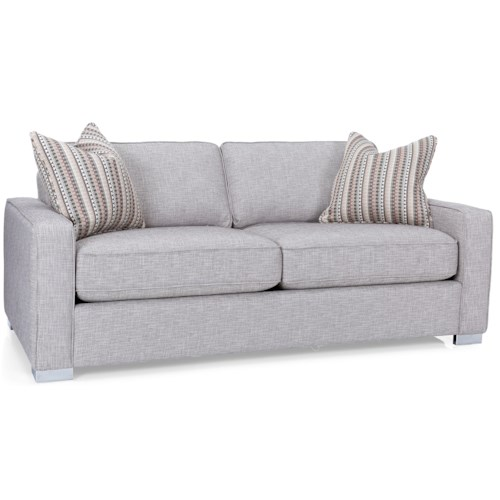 Decor-Rest 2591 Contemporary Loveseat with Track Arms