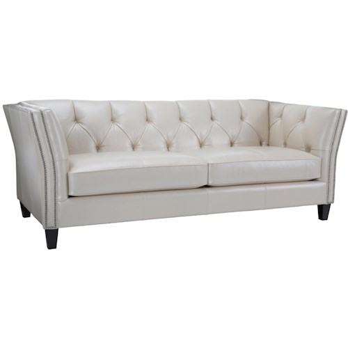 Decor-Rest 3555 Transitional Chesterfield Sofa with Button Tufting