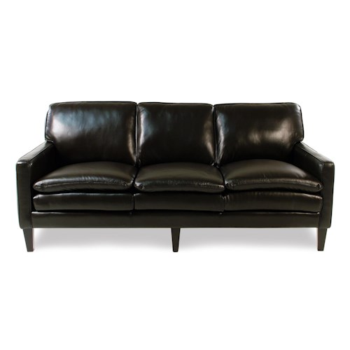 Decor-Rest Lorenzo  Contemporary Leather Sofa with Tapered Legs