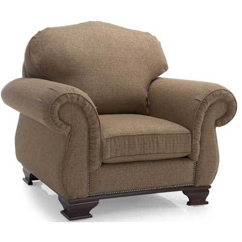 Decor-Rest 6933 Upholstered Chair w/ Rolled Arms