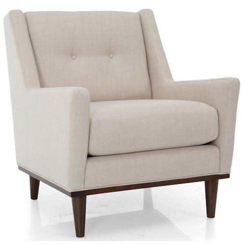Decor-Rest 7422 Mid-Century Modern Chair with Track Arms