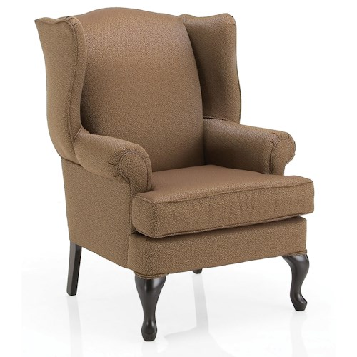 Decor-Rest 84BW Traditional Wing Back Chair with Wedge Feet