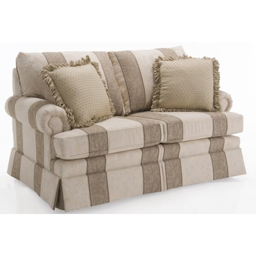 Decor-Rest 9566 Love Seat w/ Semi Attached Back Cushions