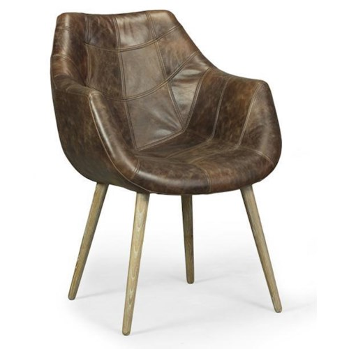 Decor-Rest Accent on Home Chairs Shannon Accent Chair with Tapered Wood Legs